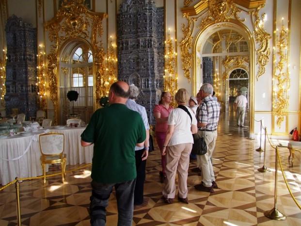 A l'intérieur du palais.