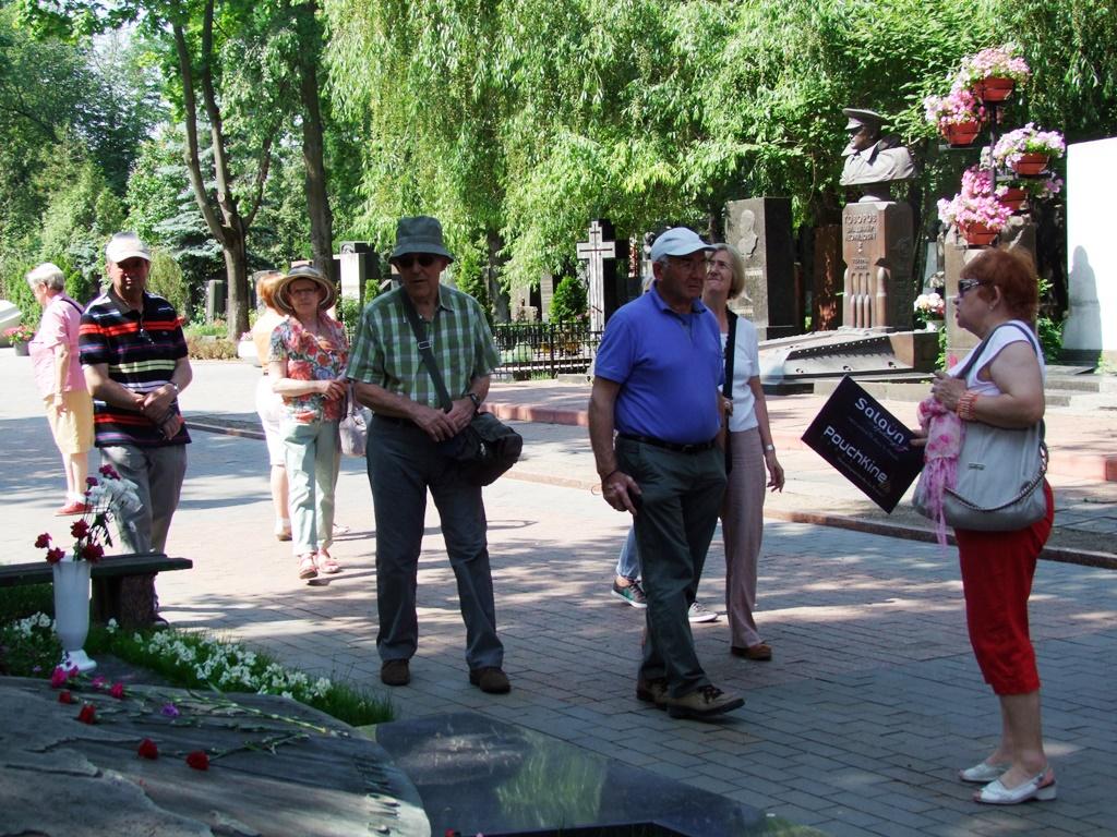 Au cimetière de Novodievitchy.