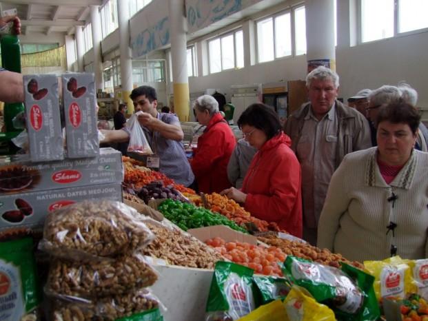 Au marché couvert à Yaroslavl