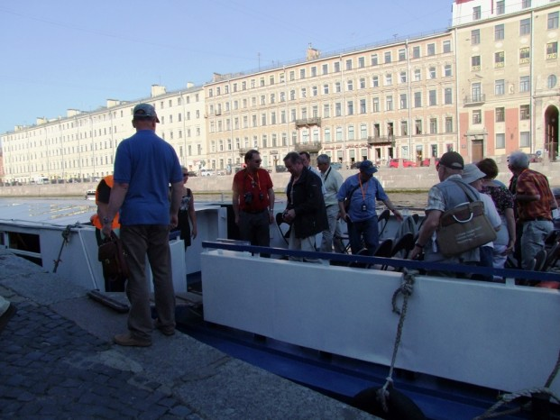 Débarquement à  Saint Petersbourg