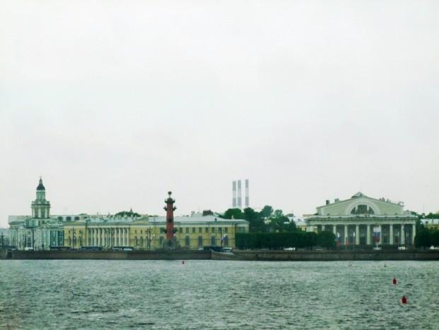 L'île Vassilievski, le Musée de la Marine de guerre.