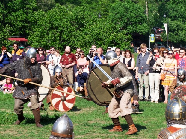 La scène de bataille à Peterhof