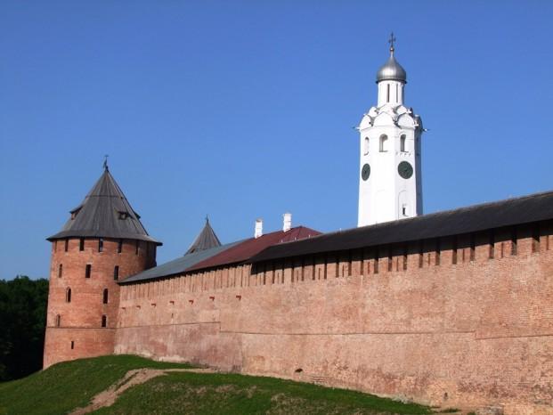 Le Kremlin de Velikiy Novgorod.