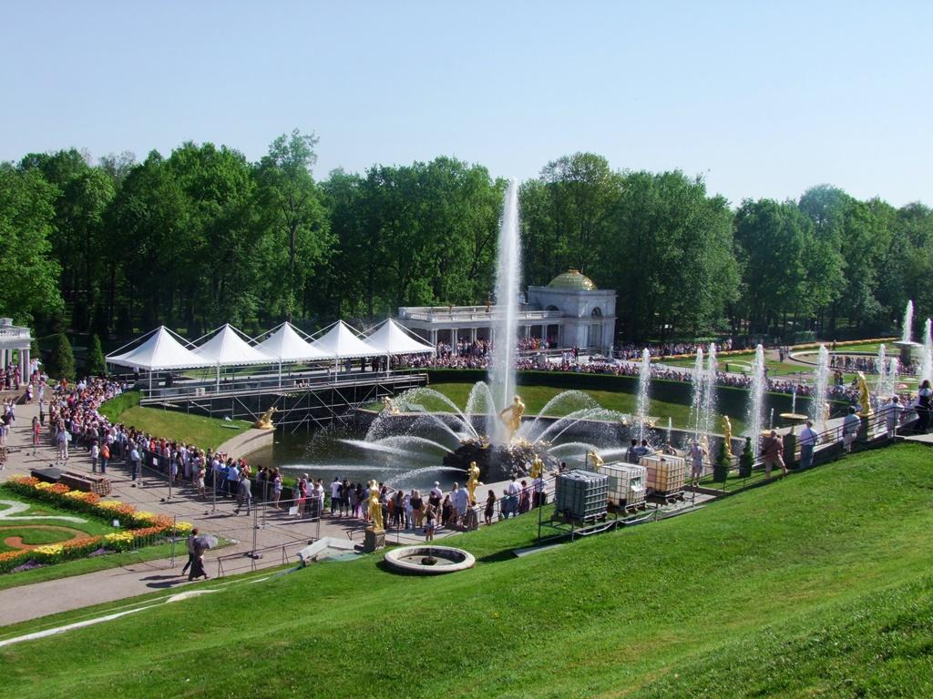 Le Parc inférieur et ses fontaines