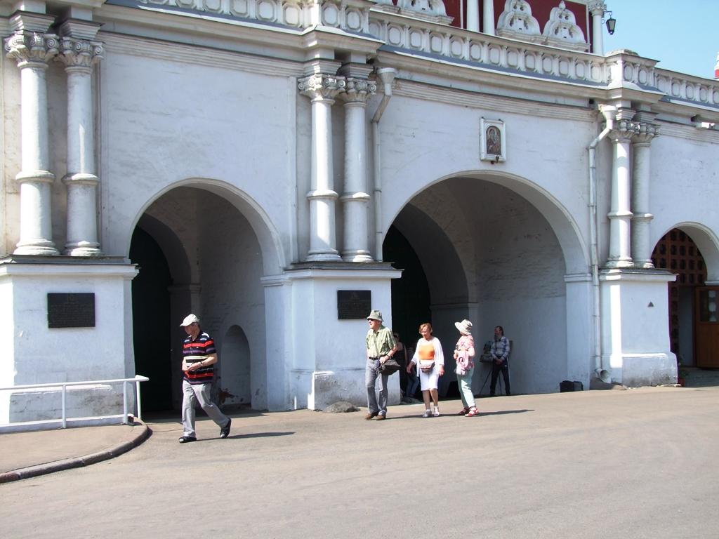 L'entrée à la Notre Dame de Smolensk
