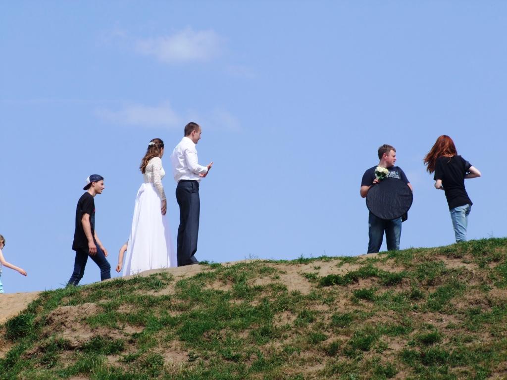 Les jeunes mariés à Vladimir.