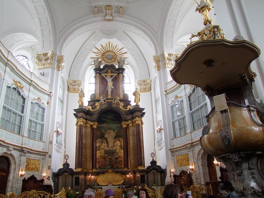 L'intérieur de l'église St Michel à Hambourg