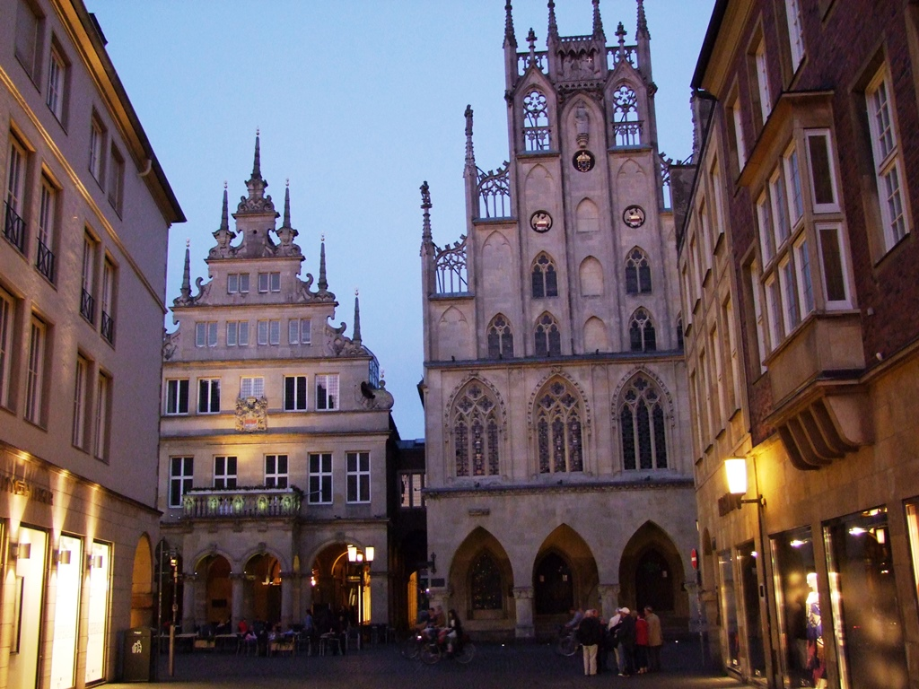 Münster, le batiment principal d'hôtel de ville