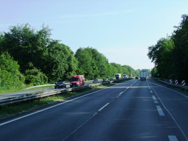 Sur la route d'Hambourg.