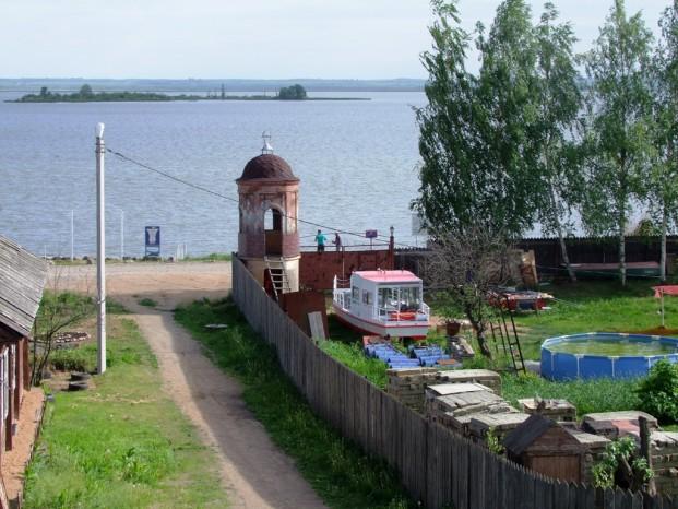 Vue sur le lac à Rostov
