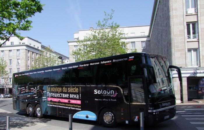 L'autocar du «voyage du siècle»