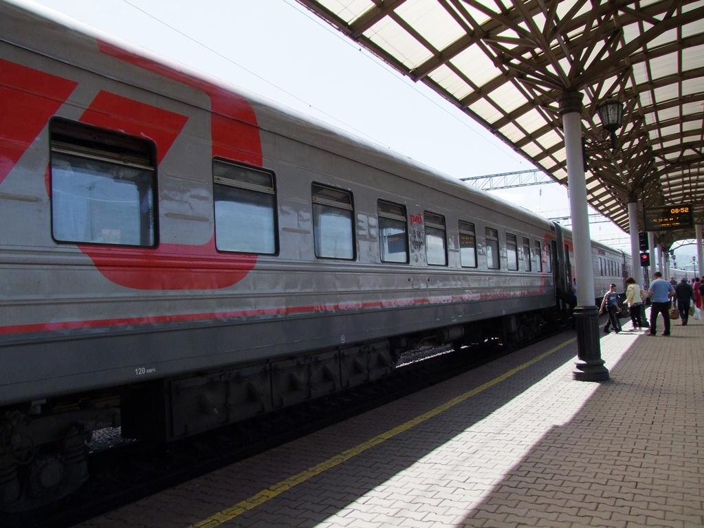 A la gare de Krasnoïarsk, sur le quai.