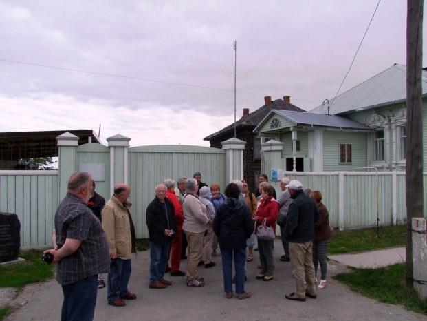 A l'entrée au musée -maison de Raspoutine, fondé en 1991.
