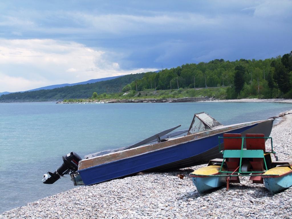 Au bord du lac Baïkal.