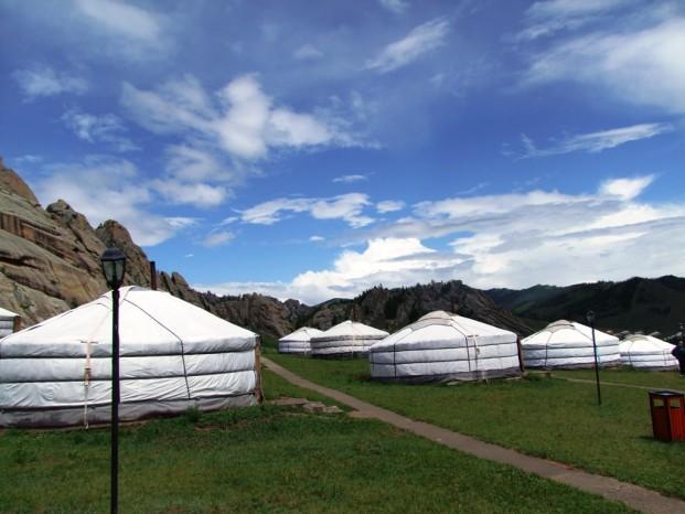 Au campement de yourte Terelj Lodge.
