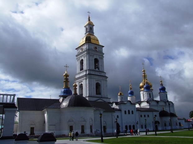 Beau et imposant Kremlin de Tobolsk.