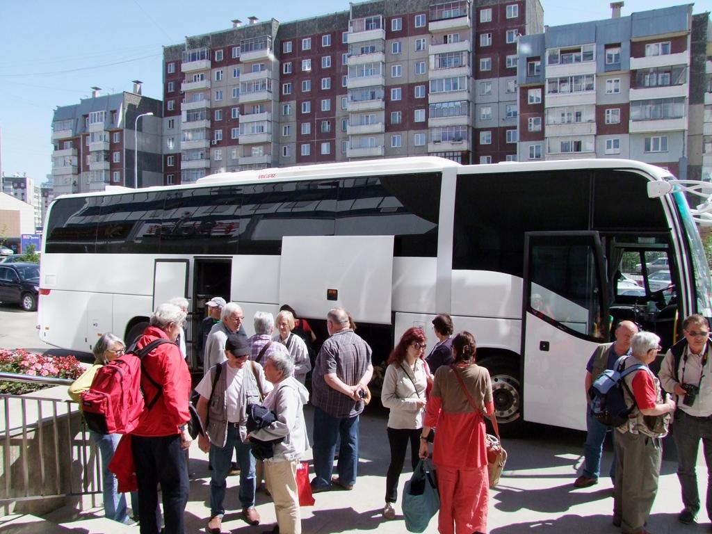 Départ de l'hôtel Kranoïarsk.