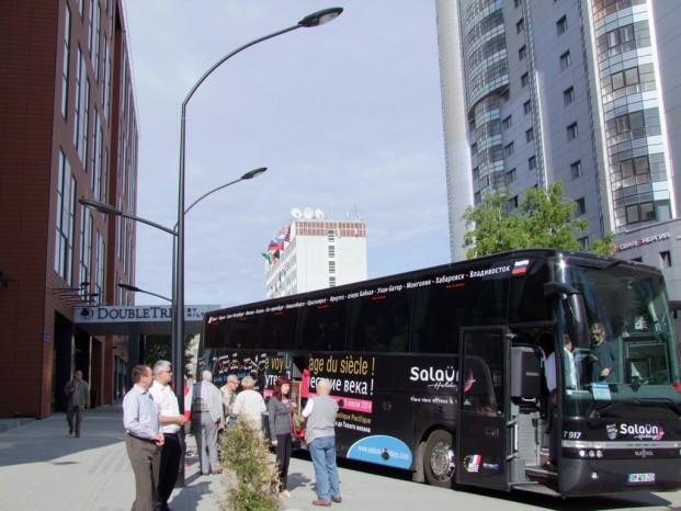 Départ du magnifique l'hôtel  Double Tree Hilton.