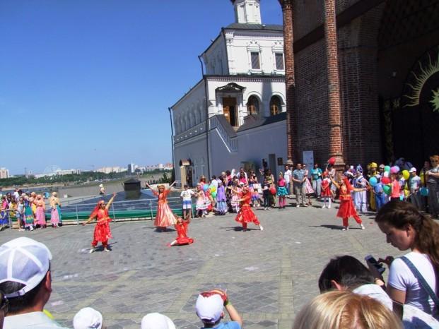 La célébration de la journée internationale des enfants, à Kazan.