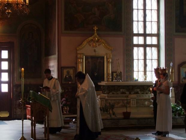 La cérémonie du mariage.