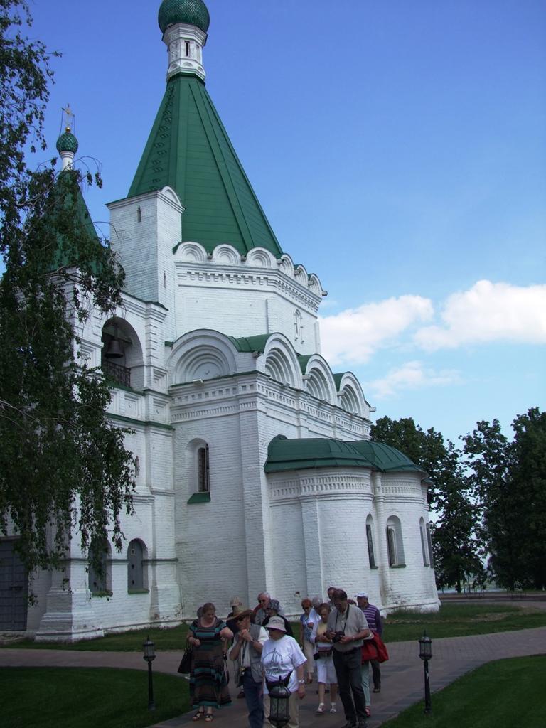 La cathédrale de l'Archange Saint-Michel, au cœur du kremlin de Nijni Novgorod.