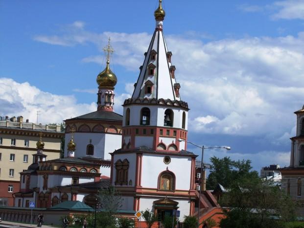 La cathédrale de la Théophanie à Irkoutsk.