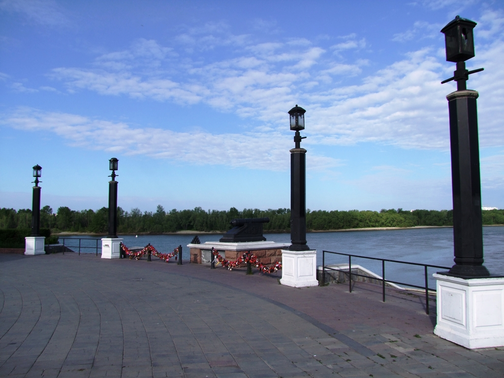 La flèche où fleuve Om se jette dans Irtych.