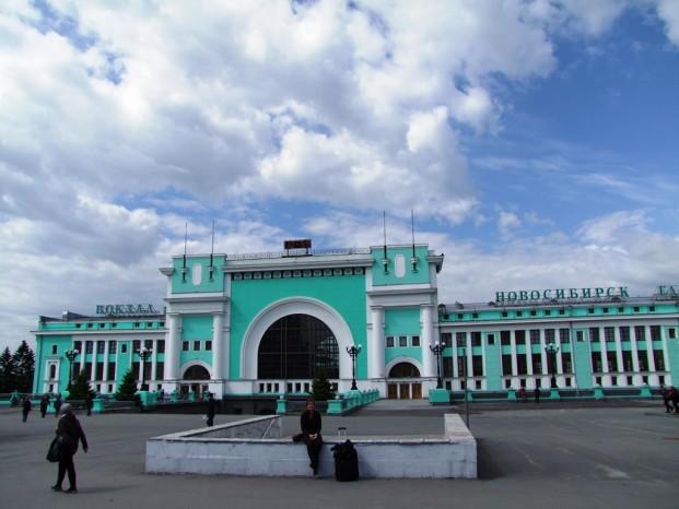 La gare centrale de Novossibirsk.