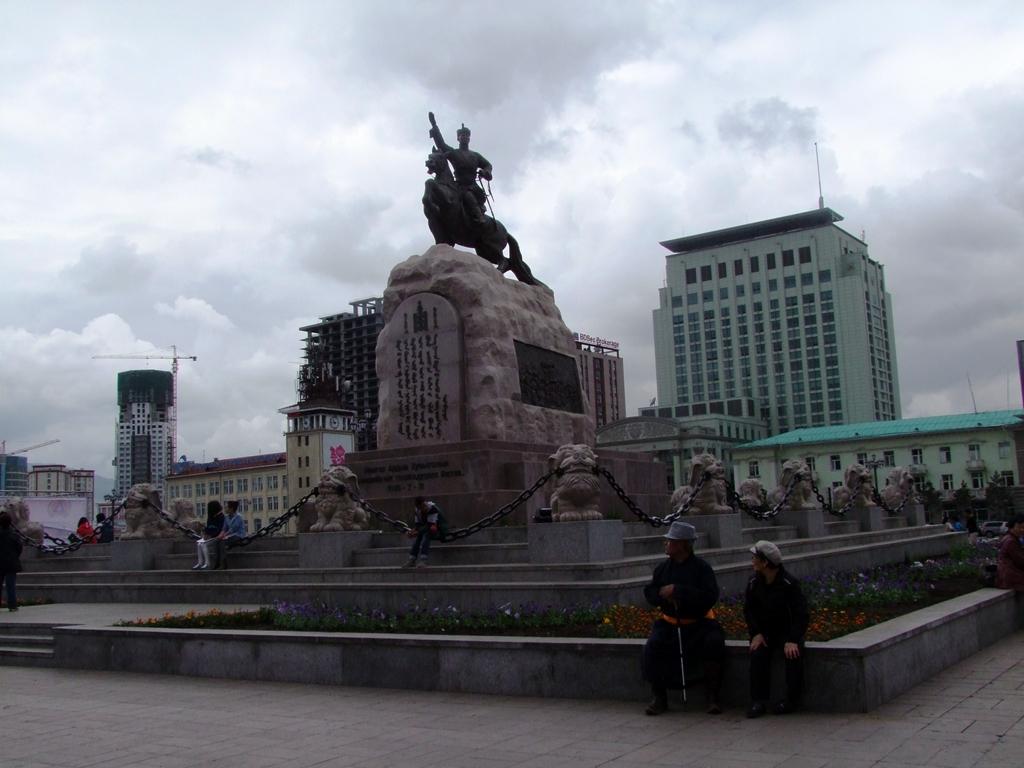 La place Sukhbaatar.
