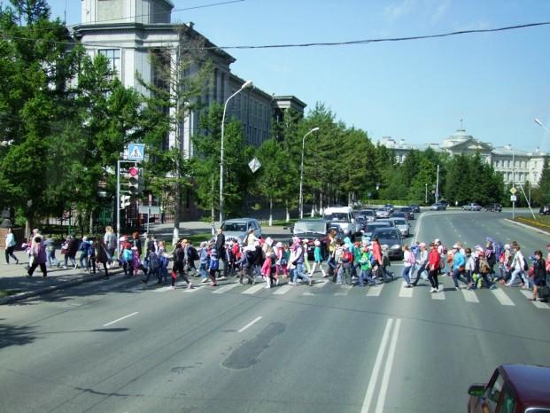 La place centrale d'Omsk.