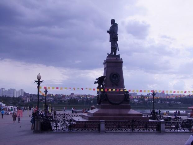 La statue d'Alexandre III.