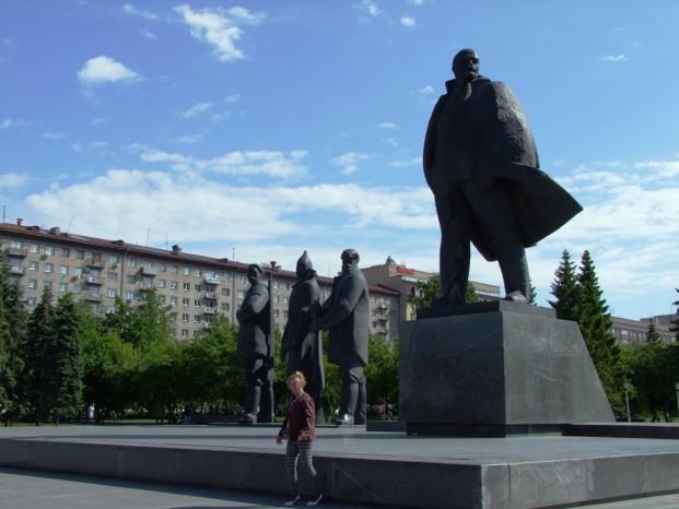 La statue de Lénine.