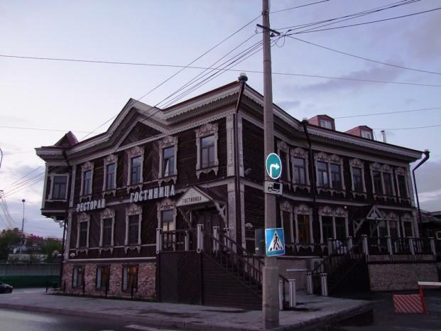 La vieille maison en bois à Tomsk.