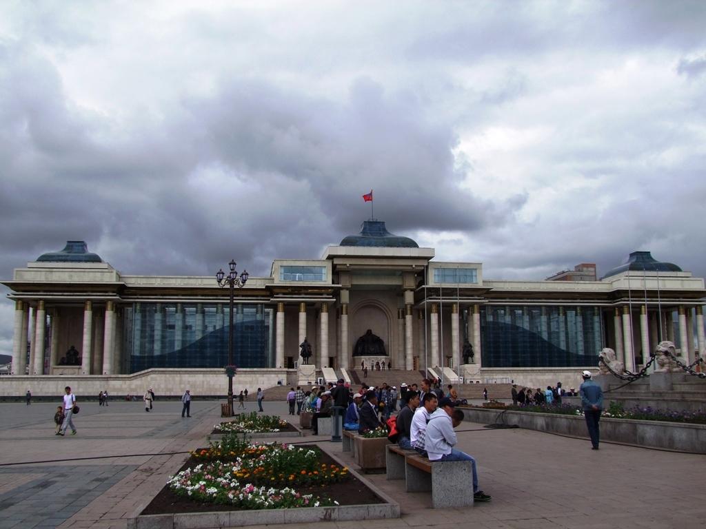 Le Parlement, sur la place Sukhbaatar.