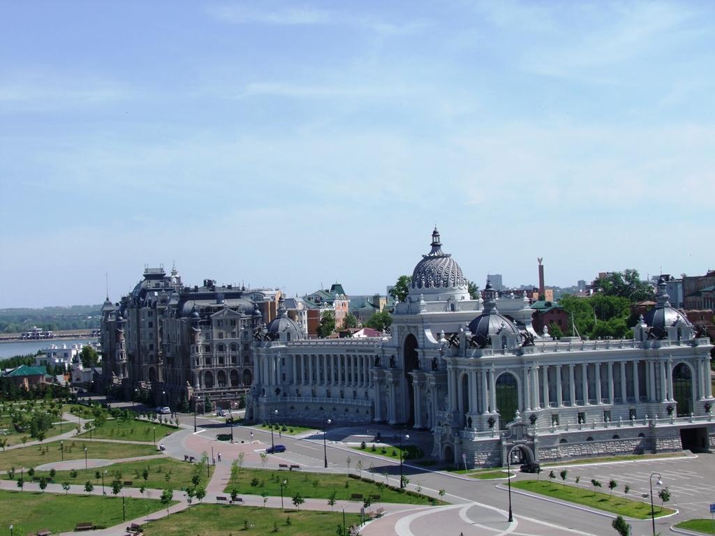 Le centre de Kazan, en face du parc.