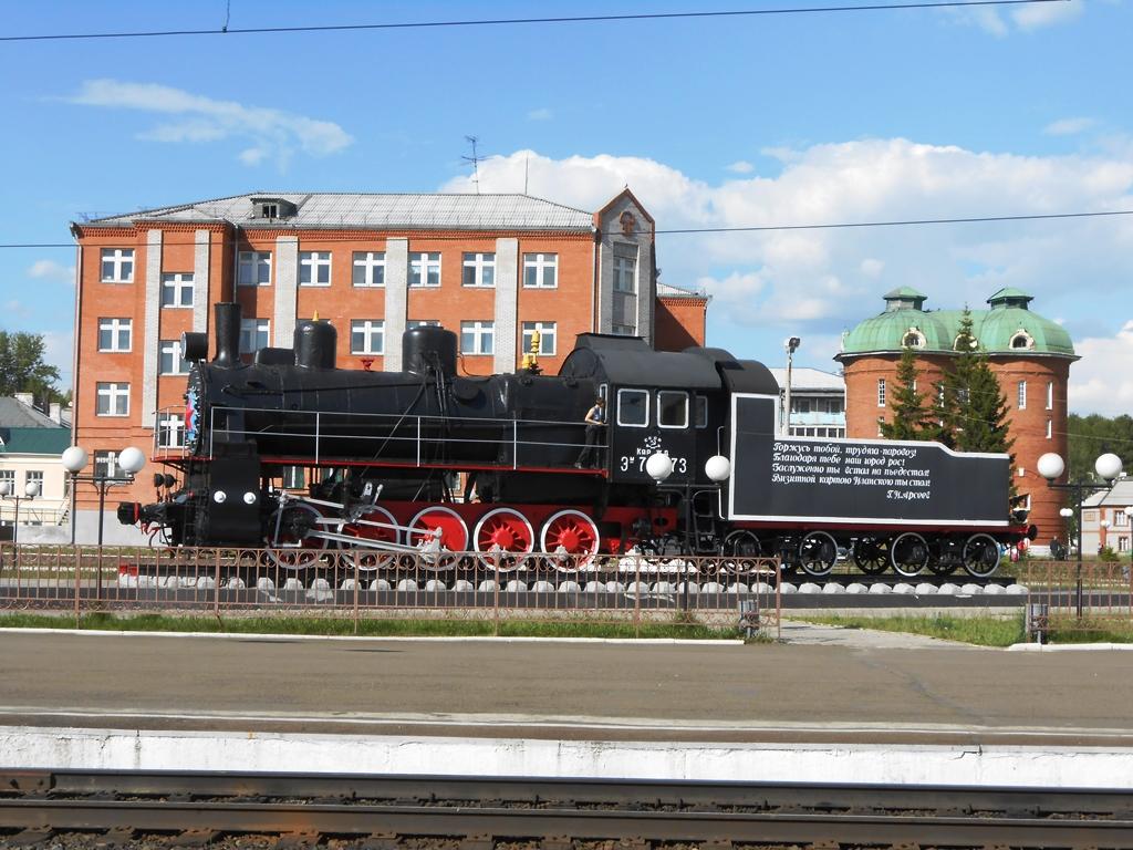Le locomotive de la gare Kansk.