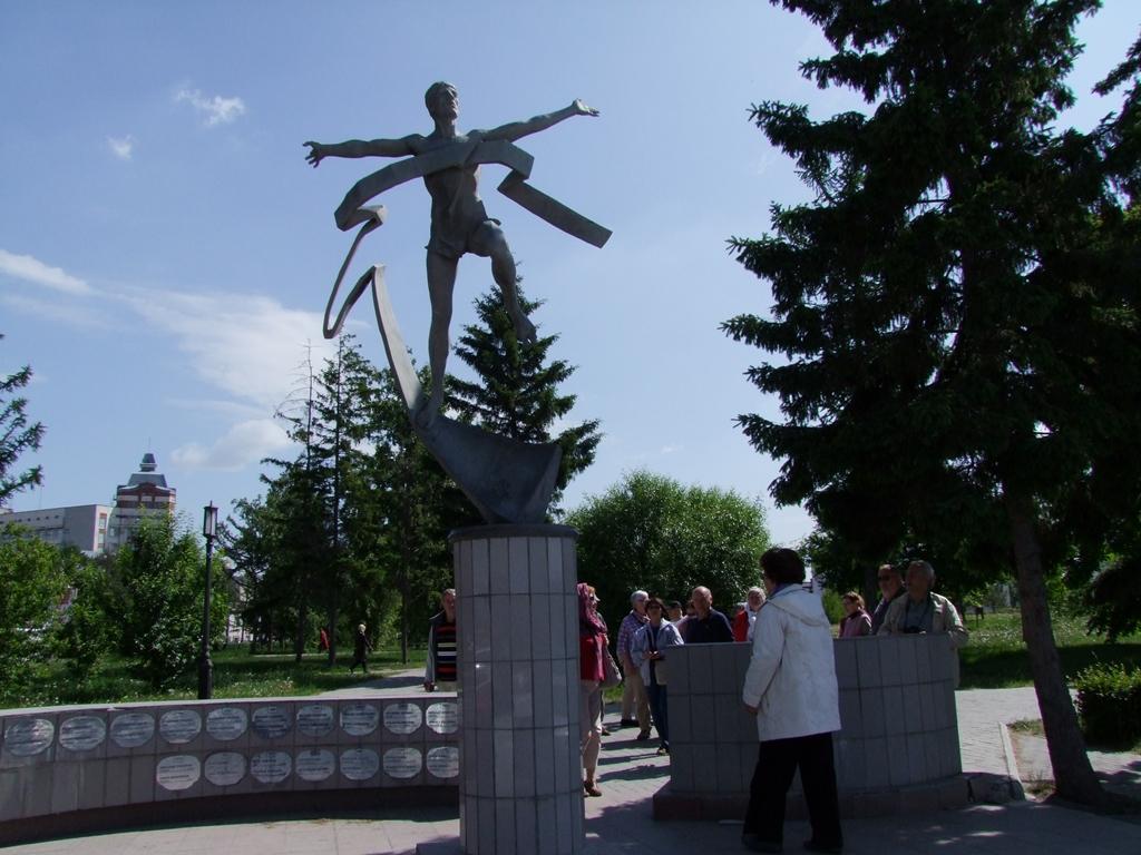 Le monument consacré aux marathoniens.
