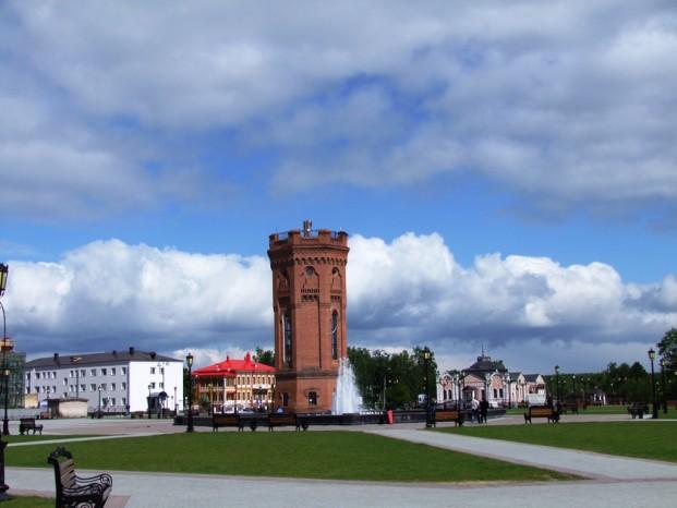 Le premier batiment en pierre dans la Sibérie, Tobolsk.