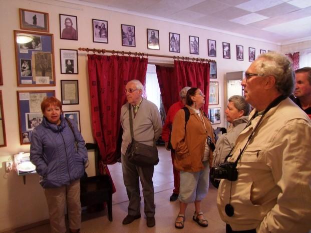 Le propriètaire et le fondateur du musée Raspoutine nous a fait visiter.