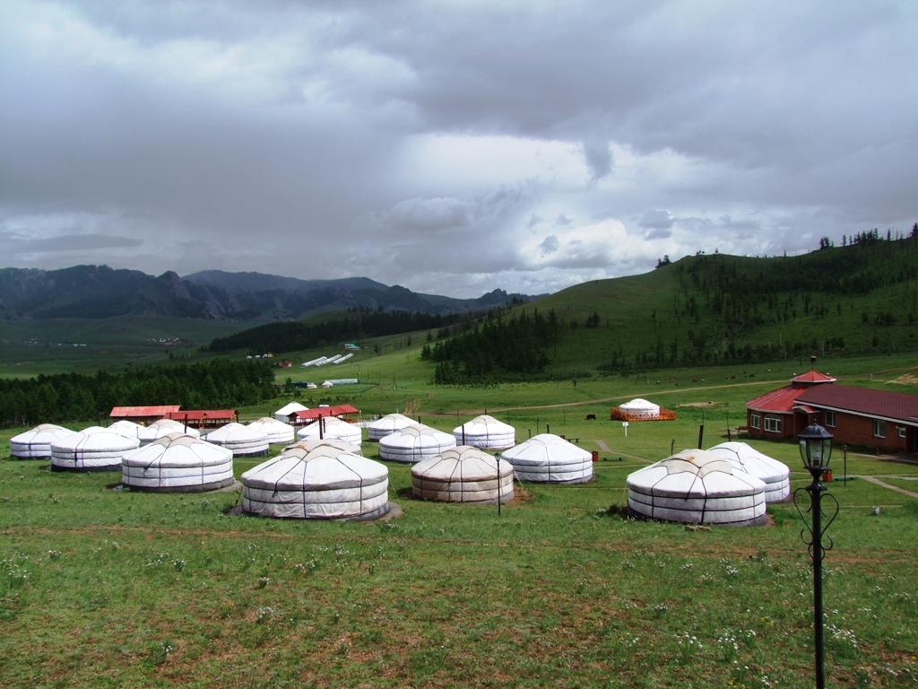Magnifique paysage depuis campement de yourtes.
