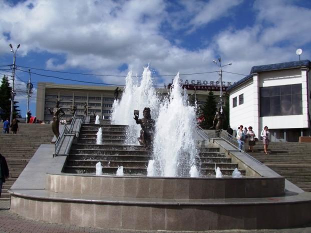 Statue de l'homme synonyme de la rivière Ienisseï.
