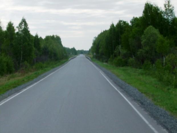 Sur la route à Omsk.