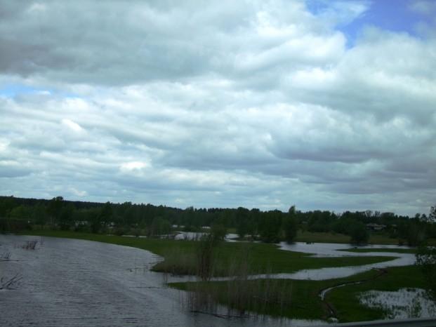 Sur la route à Tobolsk, il y a beaucoup de lacs et marécages, le cile y rajoute la pluie.