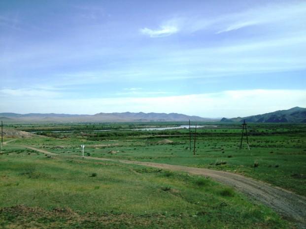 Vers Darkhan, en Mongolie.