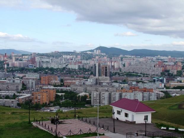 Vue sur la ville Krasnoïarsk.