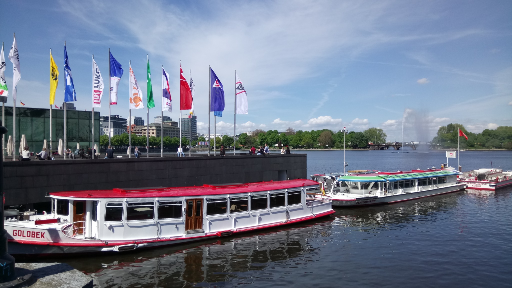 15.05. Hambourg lac Alster